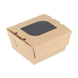 """Paper Take-out Container """"Premium"""" 11x10x5,5cm 400ml (10 Units)"""