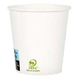 Paper Cup White 4 Oz/120ml Ø6,2cm (80 Units)