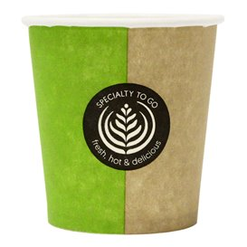 """Paper Cup """"Specialty to go"""" 4 Oz/120ml Ø6,2cm (80 Units)"""