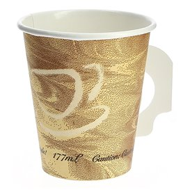 """Paper Cup with Handle """"Mistique"""" 6 Oz/180ml Ø7,4cm (50 Units)"""
