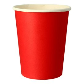 """Paper Cup Red 9Oz/240ml """"Party"""" (10 Units)"""