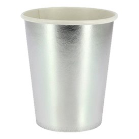 """Paper Cup Silver 9Oz/240ml """"Party"""" (10 Units)"""