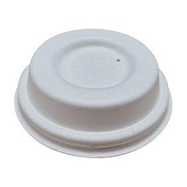 Lid of Moulded Cellulose Fibre White Ø6,2cm (50 Units)