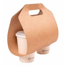 Paper Kraft Cup Carrier 46,5x22,5cm Ø6,7cm (100 Units)
