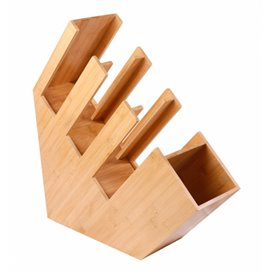 Bamboo Cup, Straw and Lid Organizer 14x50x50cm (1 Unit)