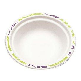 "Molded Fiber Bowl ""Chinet"" White BiColor 460ml Ø18cm (125 Units)"