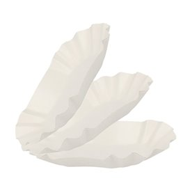 Paper Food Boat Tray Oval shape 15,5x9,5x2,5cm (250 Units)