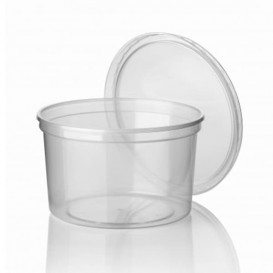 Plastic Deli Container Clear PP 500ml Ø11,5cm (500 Units)