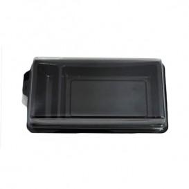 Plastic Sushi Container PET Black 1,48x7,8cm (1200 Units)