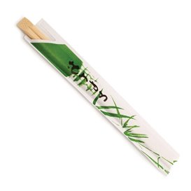 Bamboo Chopsticks Wrapped 20cm (100 Units)