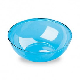 Plastic Bowl PS Crystal Hard Turquoise 400ml Ø14cm (4 Units)