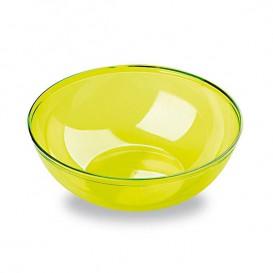 Plastic Bowl PS Crystal Hard Green 400ml Ø14cm (60 Units)