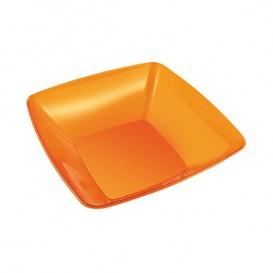 Plastic Bowl PS Crystal Hard Orange 480ml 14x14cm (60 Units)