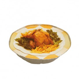 Paper Lid for Roast Chicken with holes Round Shape 2400ml (500 Units)