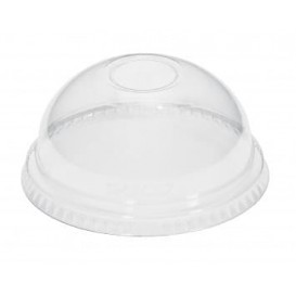 Plastic Dome Lid PET Crystal Ø9,3cm (100 Units)