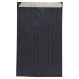 Paper Envelope Kraft Black 12+5x18cm (125 Units)