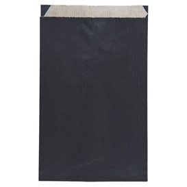 Paper Envelope Kraft Black 12+5x18cm (1500 Units)