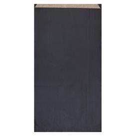 Paper Envelope Kraft Black 19+8x35cm (125 Units)