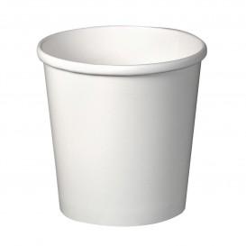 Paper Container White 16Oz/473ml Ø9,8cm (25 Units)