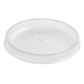 Plastic Lid PP Flat Translucent Ø9,8cm (500 Units)