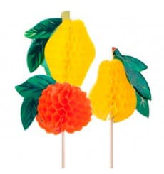 Adornos para Helados Frutas 10cm (100 uds)