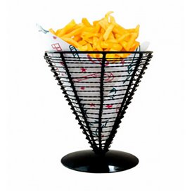 Serving Basket Containers Steel Ø18x17,5cm (6 Units)