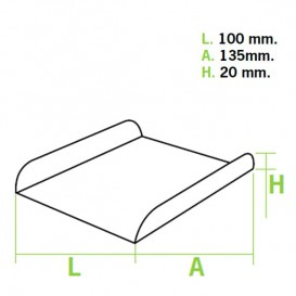 Paper Tray Waffle White 13,5x10cm (1500 Units)