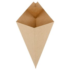 Paper Dipping Cone Kraft 27cm 250g (600 Units)