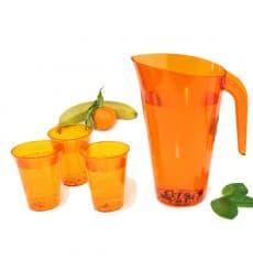 Plastic Jar PS Reusable Orange 1.500 ml  (1 Unit)