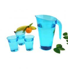 Plastic Jar PS Reusable Turquoise 1.500 ml (20 Units)