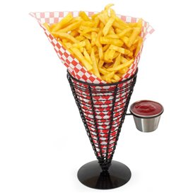 Serving Basket Containers Steel 1 Cup Ø12,8x18cm (6 Units)