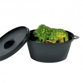 Serving Pot with Lid PP Black 15,6x10,1cm (144 Units)