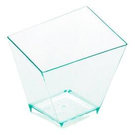 "Plastic Tasting Cup PS ""Irregular"" Water Green 5,6x5,6cm (576 Units)"