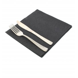 Airlaid Napkin Black 40x40cm (50 Units)