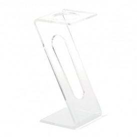 Plastic Flute Stand 1 Slot Clear (2 Units)