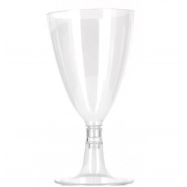 Plastic Glass Water or Wine Removable Stem 140ml (12 Units)