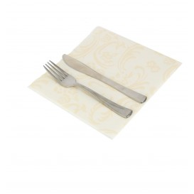 "Airlaid Napkins ""Damascato"" Marfil 40x40cm (50 Units)"