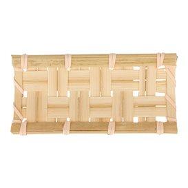 "Bamboo Tray ""Trenzado"" 10,5x5cm (24 Units)"