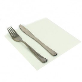 Paper Napkin Double Point White 40x40cm (50 Units)