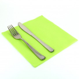 Paper Napkin Double Point Pistachio 40x40cm (1.200 Units)