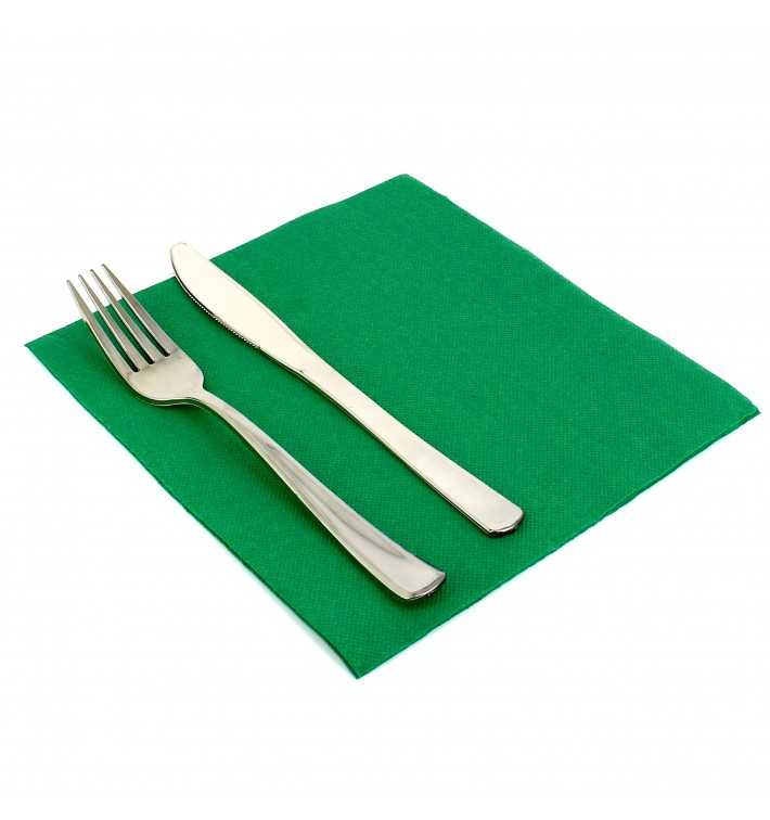 Paper Napkin Double Point Green 40x40cm (1.200 Units)