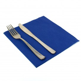 Paper Napkin Double Point Blue 40x40cm (50 Units)