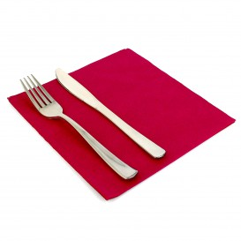 Paper Napkin Double Point Burgundy 40x40cm (50 Units)