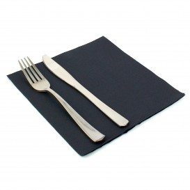 Paper Napkin Double Point Black 40x40cm (50 Units)