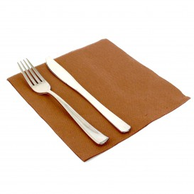 Paper Napkin Double Point Brown 40x40cm (50 Units)