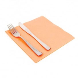 Paper Napkin Double Point Salmon 40x40cm (50 Units)