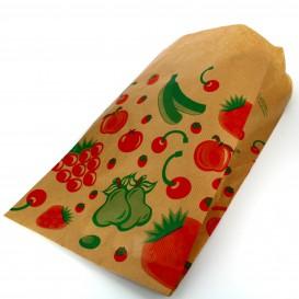 Paper Food Bag Fruit Design 18+10x32cm (100 Units)
