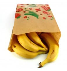 Paper Food Bag Fruit Design 18+10x32cm (100 Units)