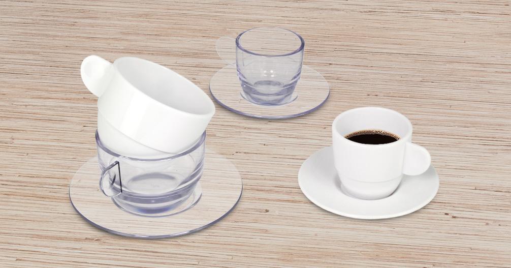 Tazas reutilizables de SAN