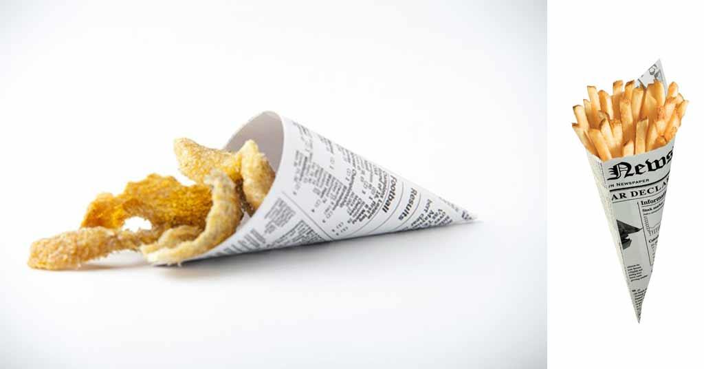 vasos de cartón para fritos